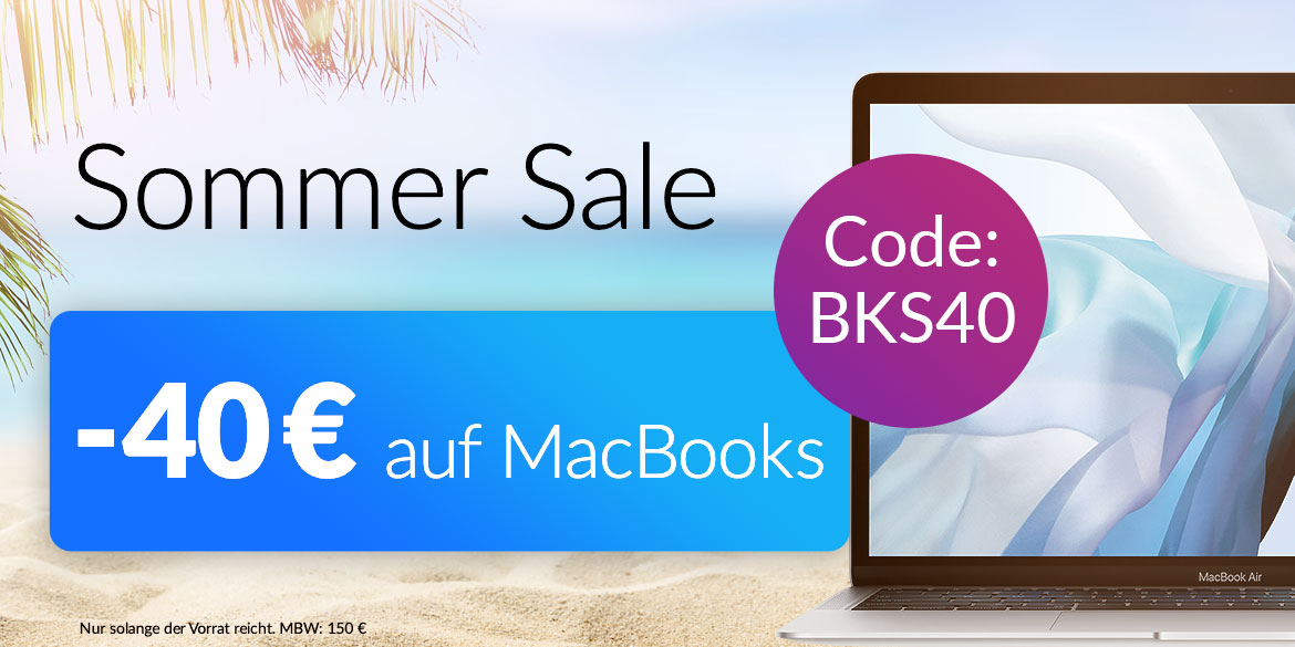 40 € MacBook Aktion Sommer Sale