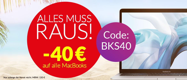 Alle muss raus 40 € MacBooks