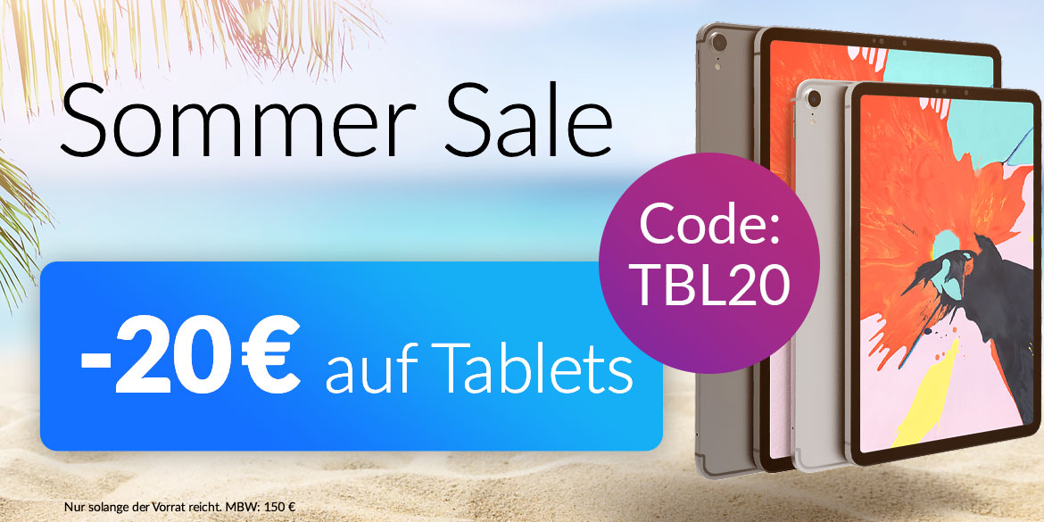20 € Tablet Aktion Sommer Sale