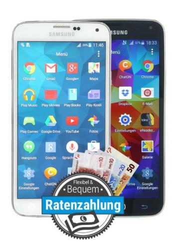 Samsung Galaxy S5 bei asgoodasnew als Ratenkauf finanzieren