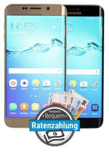 Samsung Galaxy S6 Edge Plus als Ratenkauf finanzieren bei asgoodasnew