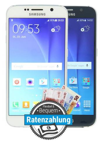 Samsung Galaxy S6 im Ratenkauf finanzieren bei asgoodasnew